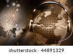 digital illustration of a globe ... | Shutterstock . vector #44891329