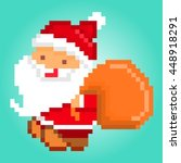 vector pixel art illustration... | Shutterstock .eps vector #448918291