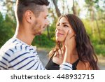 cropped shot of an affectionate ... | Shutterstock . vector #448932715
