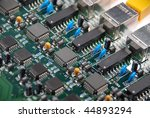 close up of a green computer... | Shutterstock . vector #44893294