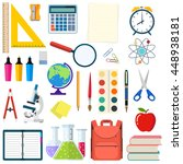 school and education workplace... | Shutterstock .eps vector #448938181