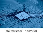 computer mainboard background... | Shutterstock . vector #4489390