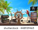 Pirate Table With Ship Wheel ...