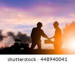 silhouette heavy industry...   Shutterstock . vector #448940041