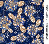 seamless pattern with doodles... | Shutterstock .eps vector #448942051