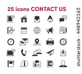 thin lines web icons set... | Shutterstock .eps vector #448942165