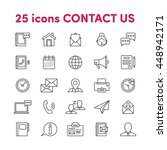 thin lines web icons set... | Shutterstock .eps vector #448942171