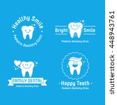 pediatric dental logos... | Shutterstock .eps vector #448943761