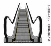 escalator isolated on white... | Shutterstock .eps vector #448945849