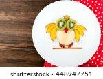 funny fruits owl for kids... | Shutterstock . vector #448947751