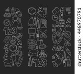 vector doodle set of education... | Shutterstock .eps vector #448970791