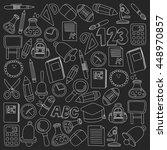 vector doodle set of education...   Shutterstock .eps vector #448970857