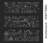 vector doodle set of education... | Shutterstock .eps vector #448970881