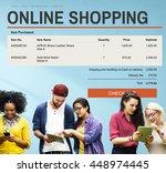 e commerce online shopping... | Shutterstock . vector #448974445
