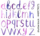 hand drawn alphabet. lettering. ... | Shutterstock . vector #448979071