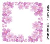 flowers design. flowers... | Shutterstock .eps vector #448981081