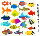 fish colorful vector set | Shutterstock .eps vector #448982299