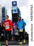 Small photo of NEW YORK, NY - MARCH 20, 2016: Amateur athletes competing in NYC Half Marathon