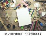 office supplies  business... | Shutterstock . vector #448986661