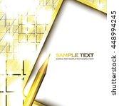 abstract golden shiny... | Shutterstock .eps vector #448994245