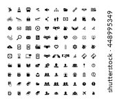 set of 100 universal icons.... | Shutterstock .eps vector #448995349