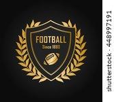football and sport shield... | Shutterstock .eps vector #448997191