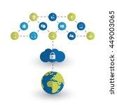 digital world   networks  iot... | Shutterstock .eps vector #449003065