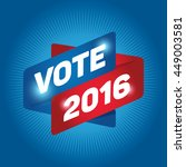 vote 2016 arrow tag sign icon.... | Shutterstock .eps vector #449003581