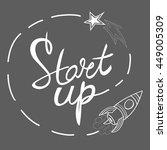 business start up. vector... | Shutterstock .eps vector #449005309