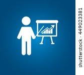 man and presentation icon vector | Shutterstock .eps vector #449023381