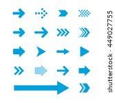 arrow sign icon set   Shutterstock .eps vector #449027755