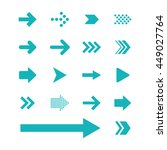 arrow sign icon set | Shutterstock .eps vector #449027764