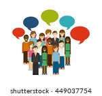 blog and internet concept... | Shutterstock .eps vector #449037754