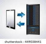 technology and data base design ... | Shutterstock .eps vector #449038441