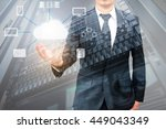 double expoure of professional... | Shutterstock . vector #449043349