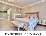 bedroom with a beautiful... | Shutterstock . vector #449046091