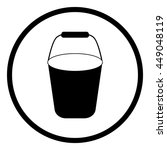 bucket   vector icon. | Shutterstock .eps vector #449048119