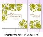 vintage delicate invitation... | Shutterstock . vector #449051875
