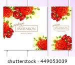 romantic invitation. wedding ... | Shutterstock . vector #449053039