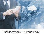double exposure of professional ... | Shutterstock . vector #449054239