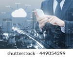 double exposure of professional ... | Shutterstock . vector #449054299