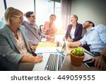 business people laughing during ... | Shutterstock . vector #449059555