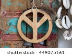 peace sign accessory | Shutterstock . vector #449075161
