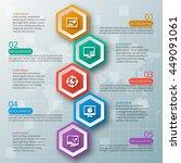 vector abstract 3d paper... | Shutterstock .eps vector #449091061