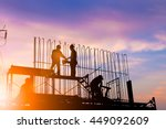 silhouette engineer... | Shutterstock . vector #449092609
