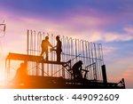 silhouette engineer... | Shutterstock . vector #449092609