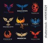 phoenix and eagle logo... | Shutterstock .eps vector #449093029