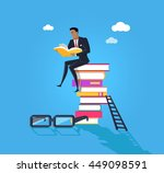 knowledge design flat concept.... | Shutterstock . vector #449098591