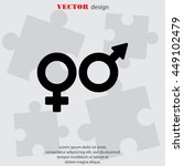 web line icon. gender symbol ... | Shutterstock .eps vector #449102479