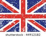 grunge union jack   Shutterstock .eps vector #44912182